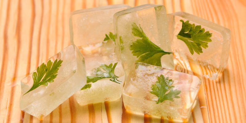 Make herbal ice cubes for summer